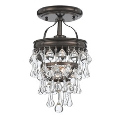 Crystorama Lighting Calypso Vibrant Bronze Semi-Flushmount Light