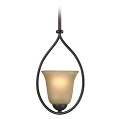 Cornerstone Lighting Oil Rubbed Bronze Mini-Pendant with Bell Shade