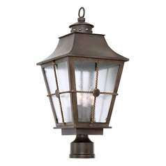 Kalco Belle Grove Aged Bronze Post Light