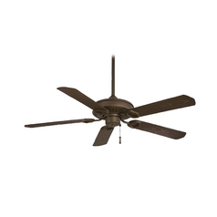 54-Inch Ceiling Fan Without Light in Oil Rubbed Bronze Finish