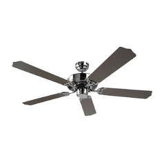 Ceiling Fan Without Light in Chrome Finish