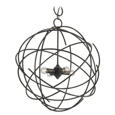 Currey and Company Lighting Black Iron Pendant Light