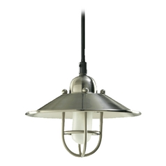 Farmhouse Mini-Pendant Light Satin Nickel by Quorum Lighting