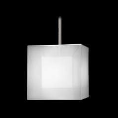 Fine Art Lamps Quadralli Silver Leafed Pendant Light with Square Shade