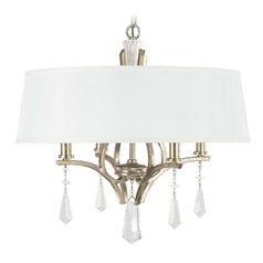 Capital Lighting Margo Winter Gold Pendant Light with Drum Shade