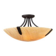 Quoizel Lighting Arcadia Imperial Bronze Semi-Flushmount Light