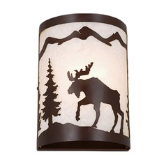 Yellowstone Burnished Bronze Sconce by Vaxcel Lighting