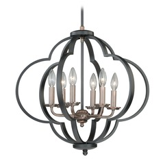 Amory Muted Copper & New Bronze Pendant Light by Vaxcel Lighting