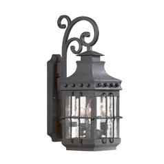 Outdoor Wall Light with Clear Glass in Natural Bronze Finish