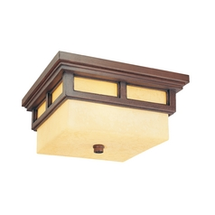 Close To Ceiling Light with Clear Glass in Cottage Bronze Finish