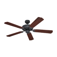 Ceiling Fan Without Light in Weathered Iron Finish