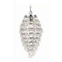 AF Lighting 1-Light Swag Chandelier Pendant Light in Chrome