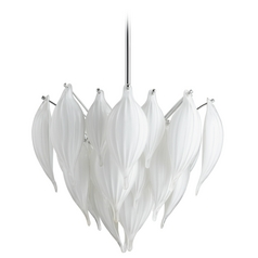 Cyan Design Daisy Leaf White Pendant Light
