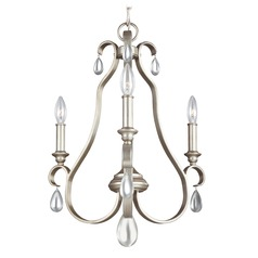 Feiss Lighting Dewitt Sunrise Silver Mini-Chandelier