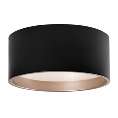 Modern Black and Gold LED Flushmount Light 3000K 1887LM