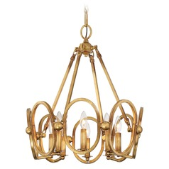 Metropolitan Lighting Clairpointe Pandora Gold Leaf Pendant Light