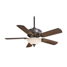 52-Inch Ceiling Fan with Light in Oil Rubbed Bronze Finish