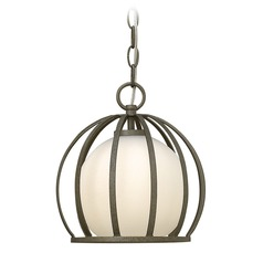 Frederick Ramond Renata Blacksmith Mini-Pendant Light with Globe Shade