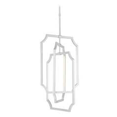 Feiss Lighting Audrie Hi Gloss Grey LED Pendant Light