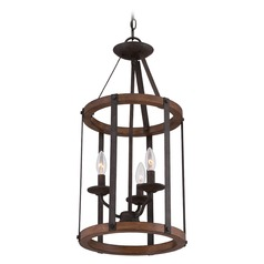 Quoizel Rustic Black Pendant Light