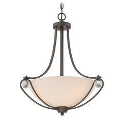 Quoizel Lighting Amelia Old Bronze Pendant Light with Bowl / Dome Shade
