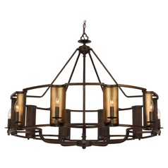 Maxim Lighting Candella Chestnut Bronze / Gold Chandelier