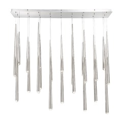Cascade Crystal LED Linear Chandelier