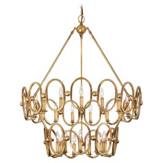 Metropolitan Lighting Clairpointe Pandora Gold Leaf Chandelier