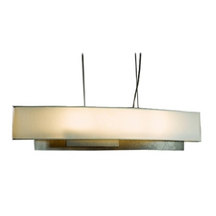Island Pendant Light with Oval Lamp Shade and Four Lights