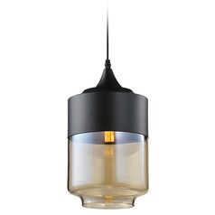 Avenue Lighting HF9114-BK/BZ Avenue Robertson Blvd. Black Mini-Pendant Light
