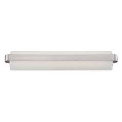 Demi Brushed Nickel LED Bathroom Light - Vertical or Horizontal Mounting