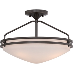 Quoizel Lighting Ozark Palladian Bronze Semi-Flushmount Light