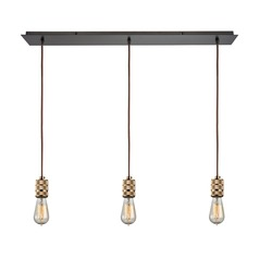 Elk Lighting Camley Polished Gold, Oil Rubbed Bronze Multi-Light Pendant