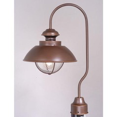 Seeded Glass Post Light Bronze Vaxcel Lighting