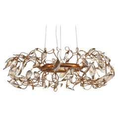 Maxim Lighting Crystal Garden Gold Leaf Pendant Light