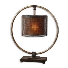 Table Lamp in Rustic Dark Bronze Finish
