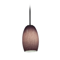 Modern Mini-Pendant Light with Purple Glass