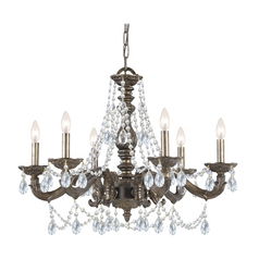 Crystal Chandelier in Venetian Bronze Finish