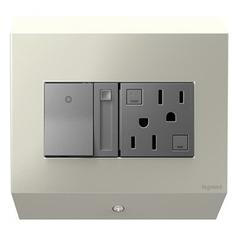 Legrand Adorne Control Box with Paddle Dimmer Switch and 15 Amps GFCI