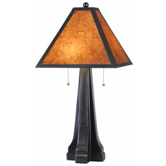 Kenroy Home Lighting Miles Oil Rubbed Bronze Table Lamp with Square Shade
