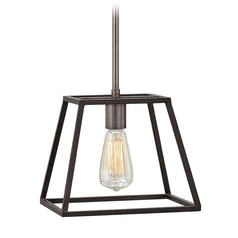 Hinkley Lighting Fulton Aged Zinc Mini-Pendant Light
