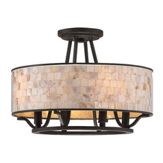 Quoizel Lighting Aristocrat Palladian Bronze Semi-Flushmount Light