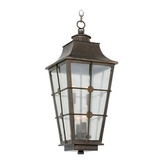 Kalco Belle Grove Aged Bronze Outdoor Hanging Light