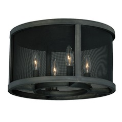 Wicker Park Warm Pewter Flushmount Light by Vaxcel Lighting