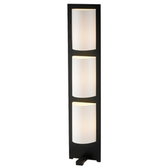 Adesso Home Lighting Modern Floor Lamp with White in Dark Walnut Finish 4412-15