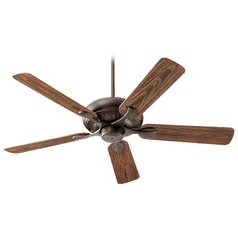 Quorum Lighting Pinnacle Patio Oiled Bronze Ceiling Fan Without Light