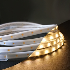 LED Rope Light Kit in Warm White Color Temperature - 19.7-Feet Long