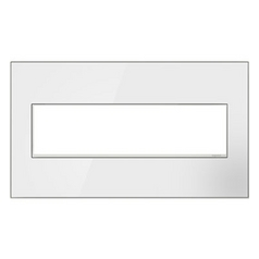 Legrand Adorne Mirror White 4-Gang Switch Plate