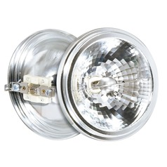 Halogen AR111 Light Bulb 2 Pin Narrow Flood 25 Degree Beam Spread 2900K 12V Dimmable