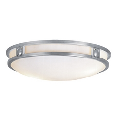 Livex Lighting Titania Brushed Nickel Flushmount Light
